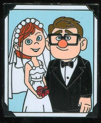 UP Carl and Ellie Thru The Years Booster Wedding Day Disney Pin 106869