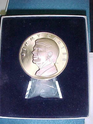 """JIMMY CARTER 1977 Large 2 3/4""""  Official President Inaugural Proof Bronze Medal"""