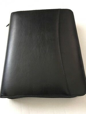 Franklin Covey Leather Organizer Black 7-ring