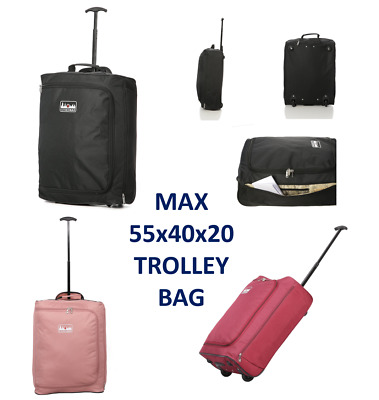 5 Cities Ryanair 55 x 40 x 20 Maximum Cabin Hand Luggage Approved Trolley  Bag 5ae900450e