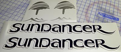 "Sea Ray Sundancer Decals 2  sets - Blue silver Drop shadow version 5"" x 22.5"""