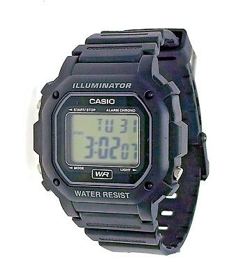 New Casio Square Digital Black Resin Plastic Water Resistant Watch F108WHC-1A