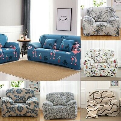 1-4 Seater Universal Sofa Chair Couch Cover Corner Stretch Slipcover Easy Instal