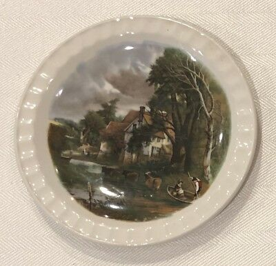 Weatherby Hanley Royal Falcon Ware England Country Scene Plate Dish