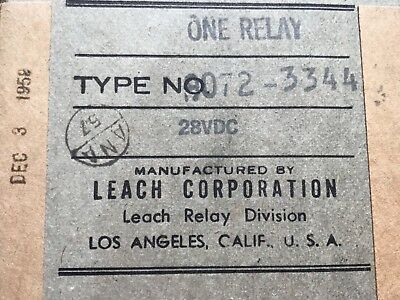 Bell UH1 relays P/N:9072-3344