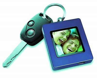 The Sharper Image USB 2.0 Digital Photo Keychain BLUE 60 Images New Sealed Box