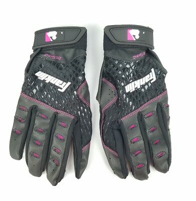 FRANKLIN Fast Pitch 2nd-Skinz SOFTBALL Black Batting Gloves Women's Size L