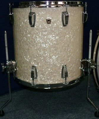 "Ludwig USA Classic Maple 16X18"" Floor Tom Vintage White Marine Pearl *New*"