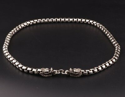 Fashionable Chinese Tibet Silver Necklace Old Dragon Sacred Decoration