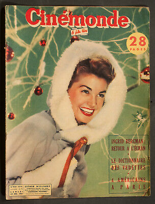 'cinemonde' French Vintage Magazine Esther Williams Cover 29 December 1951