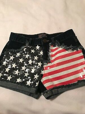Justice Red White and Blue Shorts size 14