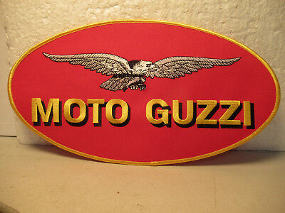 """Moto Guzzi Large Embroidered Patch NOS 10 1/2"""" x 5 3/4"""" Free USA Shipping"""