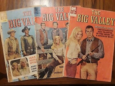 The Big Valley Comic Lot #2, 3, and 5 Classic Western Vintage Retro TV Show