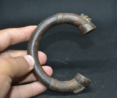 LOW OUTBID !! Extremely Ancient VIKING BRONZE Bracelet Solid Artifact Museum