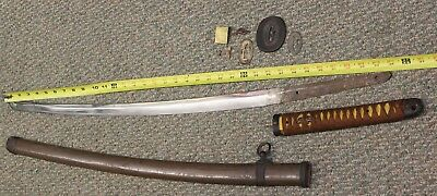 Rare Old Vintage Antique WWII WW2 Japanese Samurai Sword and Scabbard