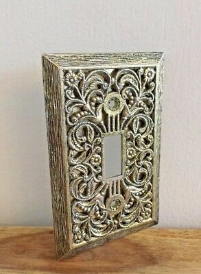 Vintage Gold Filigree Switchplate Single Switch Cover