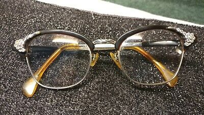 Vintage ao eyeglasses Cat Eyes Rhinestones