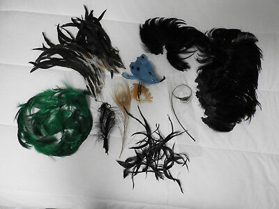 VINTAGE LOT of MILLINERY HAT FEATHERS FOR HAT RESTORATION
