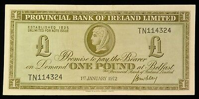 1972 Provincial Bank Of Ireland 1 Pound Note. ITEM Y26