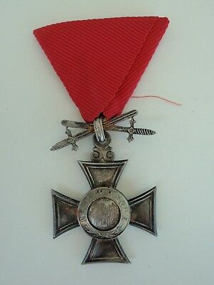 Bulgaria Order Of St. Alexander 6Th Class With Swords Up. Rare.  Vf+