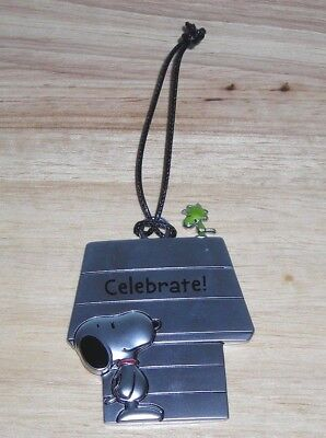 NEW w/TAGS ~ SNOOPY PEWTER CHRISTMAS ORNAMENT ~ CELEBRATE ~ PEANUTS