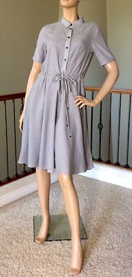 Armani Exchange Gray Striped Flare Shirtdress Size 4 Nwt Msrp 150$+Tax