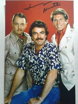 Larry Manetti AS Rick Wright Hand Signed 4X6 Photo  - Tom Selleck - MAGNUM PI