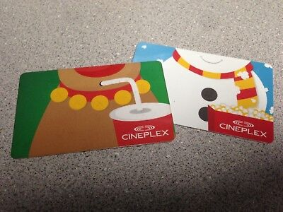 Two (2) $20 Cineplex Cards - $40 Total - Winter Themed