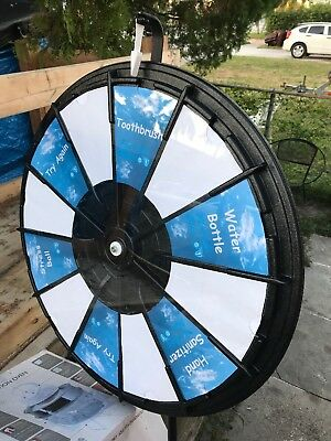 "36"" Spinning Prize Wheel Spin Tabletop to Win Wheel Game"