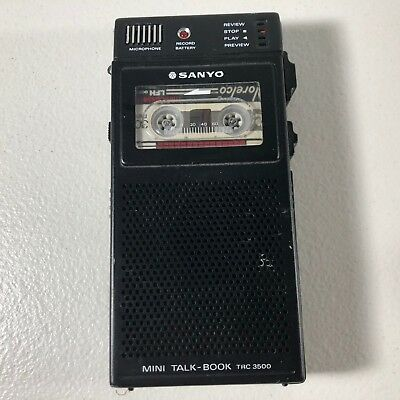 Vintage Sanyo Mini Talk Book TRC-3500 Mini Cassette Recorder