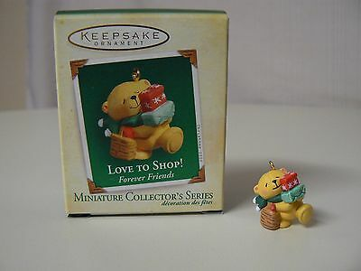 Hallmark Ornament 2005 LOVE TO SHOP NEW Miniature Forever Friends Series #2