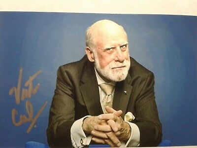 Vint Cerf Authentic Hand Signed Autograph  4X6 Photo - FATHER OF THE INTERNET