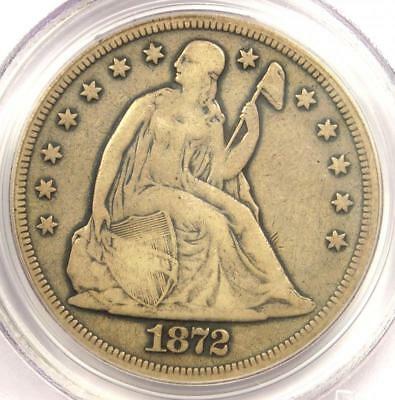 1872-CC Seated Liberty Silver Dollar $1 Coin - PCGS F15 - $3,950 Value!