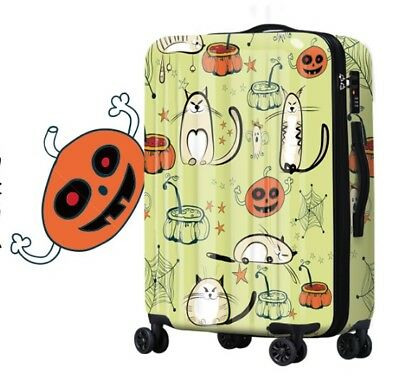 D181 Cartoon Cat Universal Wheel ABS+PC Travel Suitcase Luggage 20 Inches W