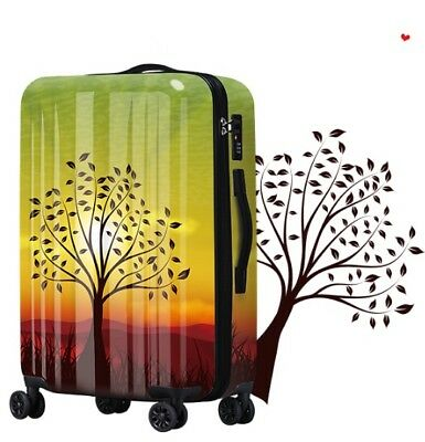 D479 Universal Wheel Fashion Tree Pattern Travel Suitcase Luggage 20 Inches W