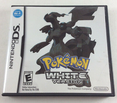 Pokemon White Version Nintendo DS - Replacement Case & Cover Art Only - No Game