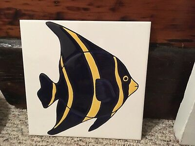 Fish Tile Made In France Appox. 8*8 Villeroy & Boch