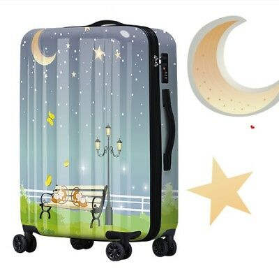 D162 Cartoon Monkey Universal Wheel ABS+PC Travel Suitcase Luggage 24 Inches W