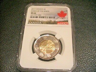 2017 Canada Ngc Ms66 Dance Of The Spirits Toonie $2 ( Canada Label )