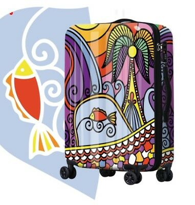 D146 Lock Universal Wheel Multicolor Travel Suitcase Cabin Luggage 20 Inches W