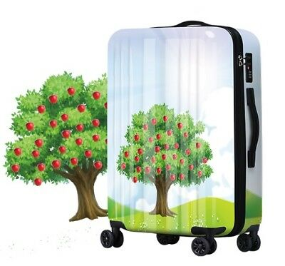 D143 Lock Universal Wheel Apple Tree Travel Suitcase Cabin Luggage 20 Inches W
