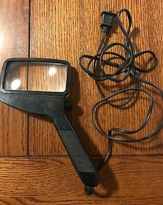 MAGNIFYING GLASS Vintage Bausch & Lomb Lighted Square 6w Heavy Duty Optical