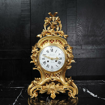 Fine Ormolu Rococo Antique French Clock By Henry Lepaute C1870 Superb Condition