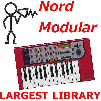 Nord Modular G1 G2 Micro 110,000+ Patch Sound Program Largest Library Downl0ad