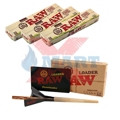 Raw Cone Loader Plus 96 Raw Organic 1 1/4 Pre Rolled Cones w/ Tips Combo