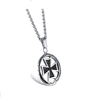 Fashion Unisex 316L Stainless Steel Classic Chain Pendant Necklace Gift GX1015