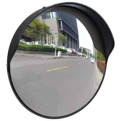 "12"" Convex Traffic Security Mirror Outdoor Safety Car Display Driveway Black US"