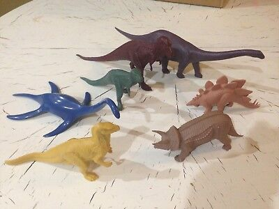 Vintage British Museum of Natural History Invicta Plastics Lot of 7 Dinosaurs