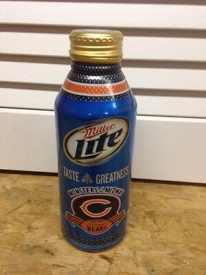 """Miller Lite Chicago Bears """"monsters Of The Midway"""" Beer Can/bottle"""