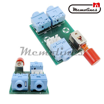 3.5mm 2In1 Audio Out Switch Switching Board Audio Socket Signal Switching Module